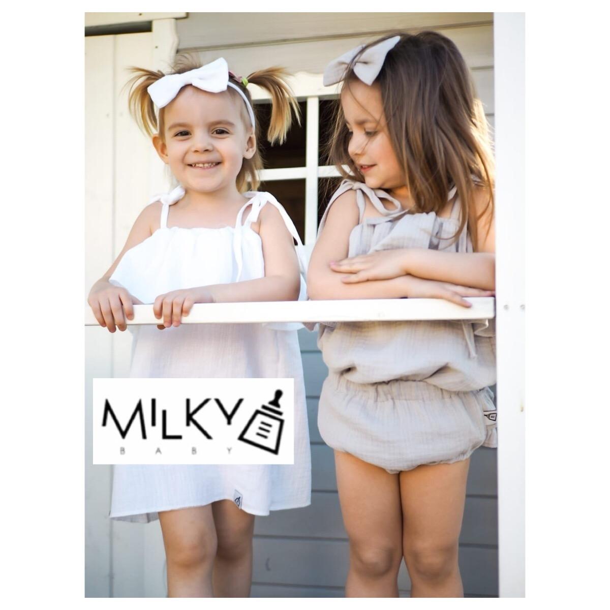 1 Sukienka mama i córka biała – Milky Baby